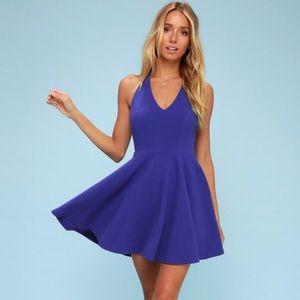 Lulus Blue Skater Dress